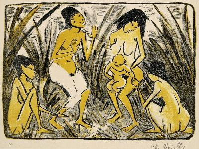 Discovery of Moses, 1920-Otto Muller or Mueller-Giclee Print