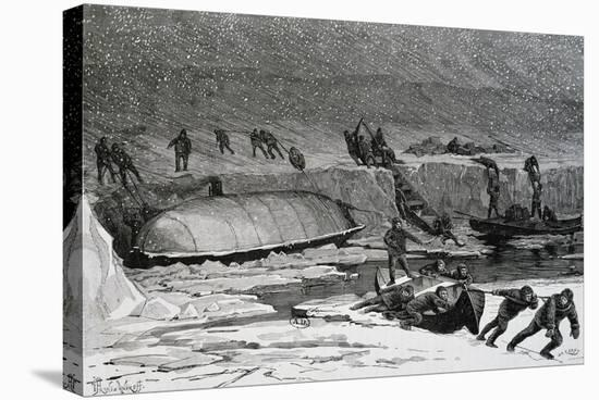 Discovery of Remains of Adolphus Greely'S--Stretched Canvas Print