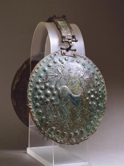 Discs from Bronze Armour, from Alfedena, Abruzzo, Italy, Piceno Civilization, 9th-3rd Century BC--Giclee Print