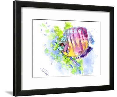 Discus-Suren Nersisyan-Framed Art Print