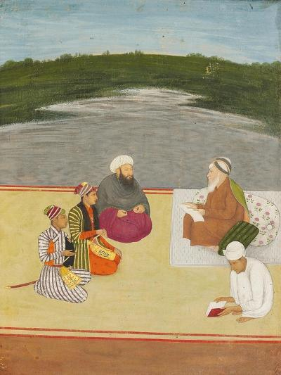 Discussion Between Learned Men and Princes, Late 17th- Early 18th Century--Giclee Print