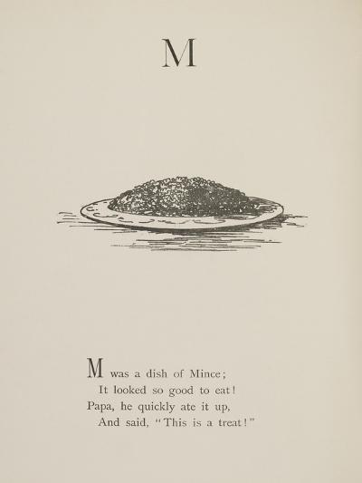 Dish Of Mince Illustrations and Verses From Nonsense Alphabets Drawn and Written by Edward Lear.-Edward Lear-Giclee Print