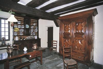 Dish Rack and Large Wardrobe in Walnut, Chateau Fort De Lourdes, Midi-Pyrenees, France--Photographic Print