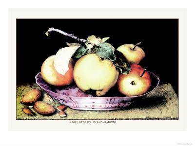 Dish with Apples and Almonds-Giovanna Garzoni-Art Print