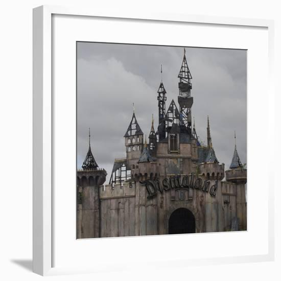 Dismal's Castle Photo-Banksy-Framed Premium Giclee Print