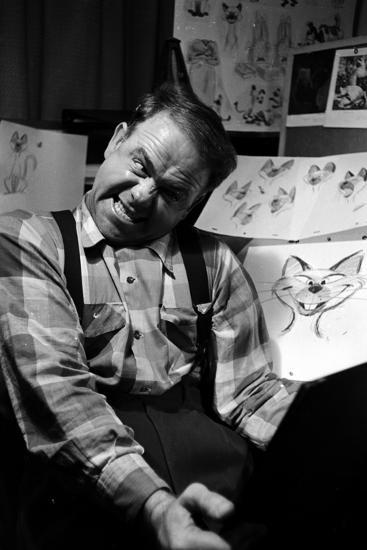 """Disney Animator-Artists Work on Sketches for """"Lady and the Tramp"""", Burbank, California, 1953-Alfred Eisenstaedt-Photographic Print"""