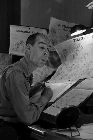 "Disney Animator-Artists Work on Sketches for ""Lady and the Tramp"", Burbank, California, 1953-Alfred Eisenstaedt-Photographic Print"