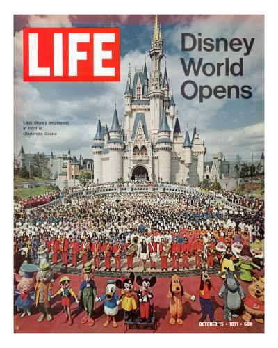 Disney World Opens, October 15, 1971-Yale Joel-Premium Photographic Print