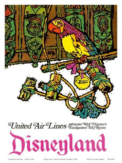 Disneyland - Walt Disney's Enchanted Tiki Room - United Air Lines-Jabavy-Art Print
