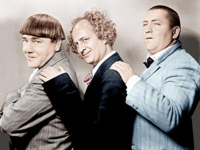 Disorder in the Court, Moe Howard, Larry Fine, Curly Howard, (aka The Three Stooges)--Photo