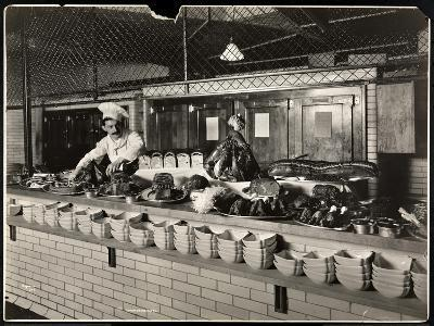 Display of Cold Meat in the Kitchen of the Commodore Hotel, 1919-Byron Company-Giclee Print