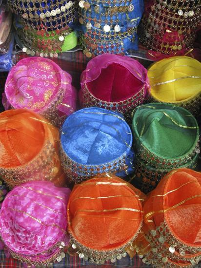 Display of Fez Hats, Sultanahmet, Istanbul, Turkey Photographic Print by  Steve Outram | Art com