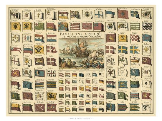 Display of Flags--Art Print