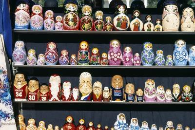 Display of Handcrafted Russian Dolls, St. Petersburg, Russia--Giclee Print