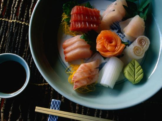 Display of Sushimi, Japan-Glenn Beanland-Photographic Print