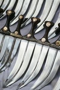 Display of Traditional Jambiyan Daggers, Taiz Souk, Yemen