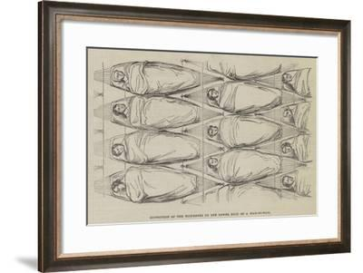 Disposition of the Hammocks on the Lower Deck of a Man-Of-War--Framed Giclee Print