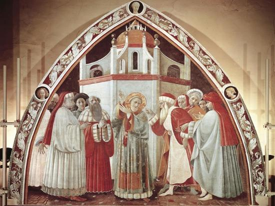Disputation of St. Stephen, Scene from Stories of St. Stephen, 1435-1440-Paolo Uccello-Giclee Print