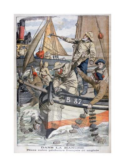Dispute Between French and English Fishermen in the Channel, 1904--Giclee Print