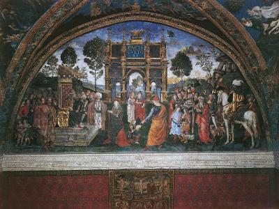 Dispute of St. Catherine (With Emperor Maximian)-Bernardino di Betto Pinturicchio-Art Print