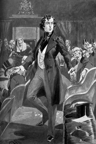 Disraeli's First Speech in the House of Commons, 19th Century-T Walter Wilson-Giclee Print