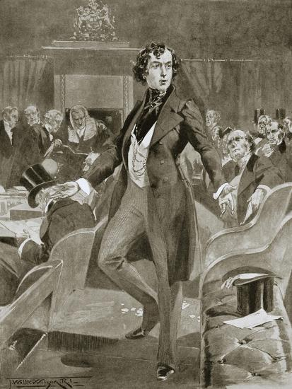 Disraeli's first speech in the House of Commons, London, 7 December 1837 (1901)-Unknown-Giclee Print