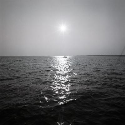 Distant Boat on Ocean-George Marks-Photographic Print
