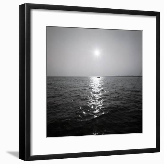 Distant Boat on Ocean-George Marks-Framed Photographic Print