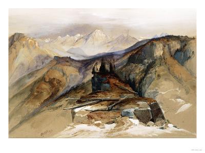 Distant Peaks, 1873-Thomas Moran-Giclee Print