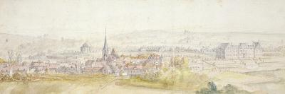 Distant View of a Town with a Chateau on the Right-Adam Frans van der Meulen-Giclee Print