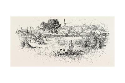 Distant View of Brixworth Church, UK--Giclee Print