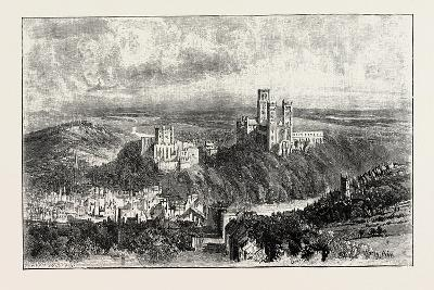 Distant View of Durham--Giclee Print