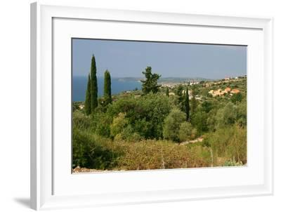 Distant View of Lourdas, Kefalonia, Greece-Peter Thompson-Framed Photographic Print