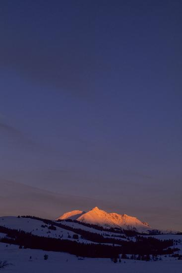 Distant View of Snow-Covered Electric Peak-Tom Murphy-Photographic Print
