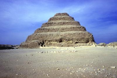 Distant View of the Step Pyramid of King Djoser (Zozer), Saqqara, Egypt, 3rd Dynasty, C2600 Bc- Imhotep-Photographic Print