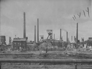 Distant View Showing the Coal Mining Plant