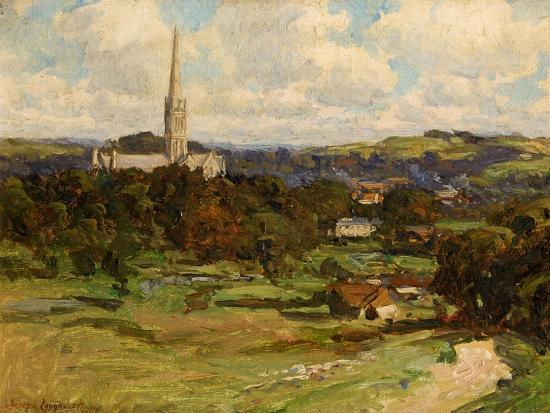 Distant View with the Downs in the Background, 1906-Joseph Longhurst-Giclee Print