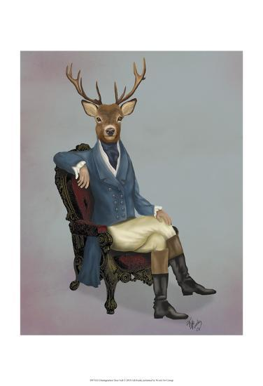 Distinguished Deer Full-Fab Funky-Art Print