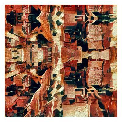 Distorted city scene 31-Jean-Fran?ois Dupuis-Art Print