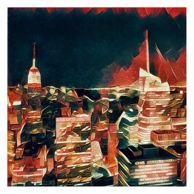 Distorted city scene 32-Jean-Fran?ois Dupuis-Art Print