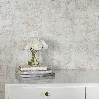Distressed Gold Leaf Pearl Self-Adhesive Wallpaper