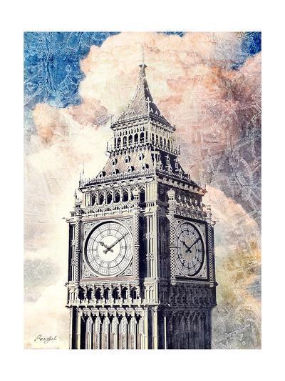 Distressed London-Roozbeh-Art Print