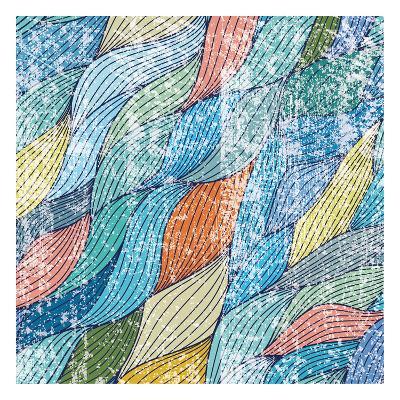 Distressed Ocean Flow-Melody Hogan-Art Print