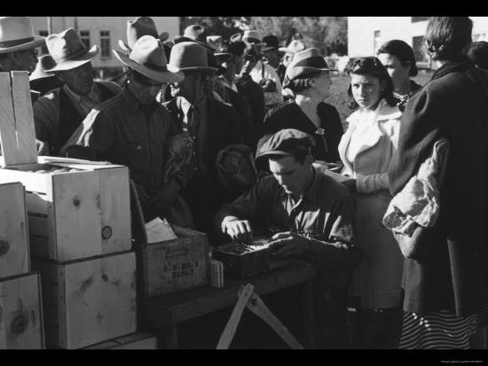 Distributing Surplus Commodities-Russell Lee-Photo