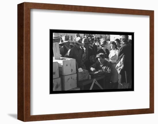 Distributing Surplus Commodities-Russell Lee-Framed Photo