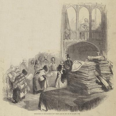 Distribution of Her Majesty's New Year's Alms on 1 January 1846--Giclee Print