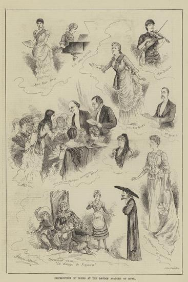 Distribution of Prizes at the London Academy of Music-Horace Morehen-Giclee Print