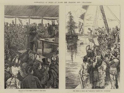 Distribution of Prizes on Board the Training Ship Worcester-Edward Frederick Brewtnall-Giclee Print