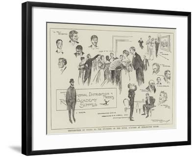 Distribution of Prizes to the Students of the Royal Academy at Burlington House-Frank Craig-Framed Giclee Print