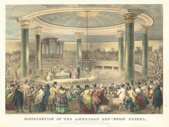 Distribution of the American Art-Union Prices-Francis D'Avignon-Giclee Print